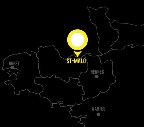 Plan de situation, Saint-Malo en Bretagne