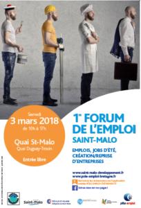 Affiche FORUM EMPLOI ST MALO 2018