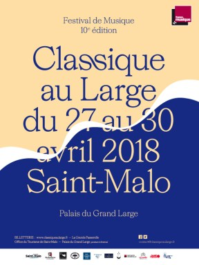 Affiche du Festival Classique Au Large 2018