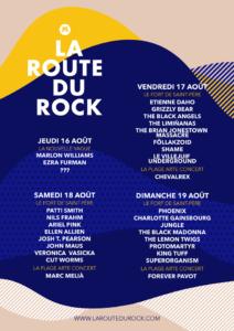 Programmation Route du Rock Collection été 2018